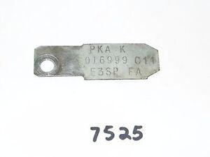 Ford Mercury Differential Tag 1983 - 1984 Cougar PKA K 01699 C11 E3SP FA