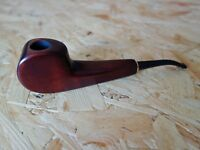 "DESKTOP Hand Carved 6,5"" Tobacco Smoking Pipe Pear Wood Briar Analog, Gift Pouch"