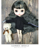 """12"""" Neo Blythe Doll From Factory Gray Hair With Make-up Eyebrow Sleeping Eyes"""