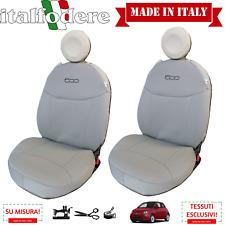 COPPIA COPRISEDILI Fiat 500 SuMISURA Foderine Anteriori Tessuto OriginaleCordura
