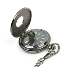 Retro Vintage Antique Steampunk Quartz Necklace Pendant Pocket Watch Black New