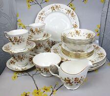 "Lovely floral vintage COLCLOUGH ""Avon"" bone china DINNER SERVICE, SET for 6."