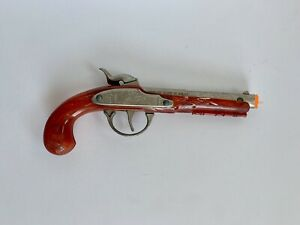 Vintage Hubley Flintlock Jr. Toy Cap Gun Pistol Ornate Pirate Complete & Works!
