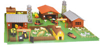 LARGE FARM YARD BARN HOUSE ANIMALS  DIE CAST VEHICLE TRACTOR TOWER MACHINERY COU