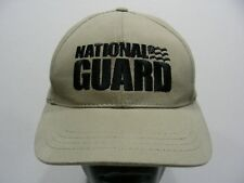 NATIONAL GUARD - TAN - ONE SIZE ADJUSTABLE BALL CAP HAT!