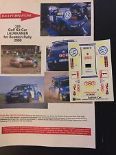 DECALS 1/43 VW VOLKSWAGEN GOLF KIT CAR LAUKKANEN RALLYE SCOTTISH 2000 RALLY WRC