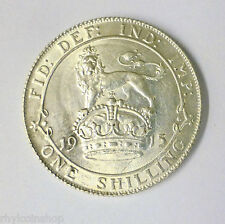 1915 GEORGE V BRITISH SILVER SHILLING COIN