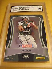 TIM TEBOW N.Y. JETS 2012 PANINI BLACK FRIDAY THANKSGIVING # 6 GRADED 10