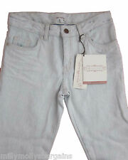 New Girls Marks & Spencer Bleached Blue Jeans Crop Age 11 Years Leg 20""