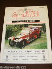 ROLLS ROYCE ENTHUSIASTS CLUB ADVERTISER #107 - MAY 1991