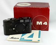 Leica M 4, #1266015, black enamel, in original box with instructions