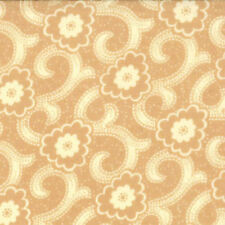 Moda French General Chateau Rouge Floral Sylvie Swirl Fabric in Mustard 13627-15
