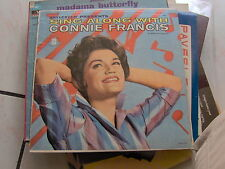 LP USA BRYLCREEM PRESENTS SING ALONG WITH CONNIE FRANCIS & THE JORDANAIRES EX+