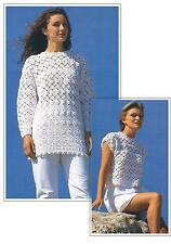 Ladies Summer Top and Sweater Vintage Crochet Pattern PATTERN ONLY DK  ±016