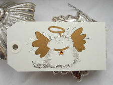 10 Angel Cat Christmas Gift Tags Wishing Tree Handmade