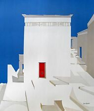 """James Harrill, """"House in Athens"""", poster, 25""""h x 21""""w image, signed/unsigned"""