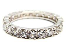 Anello eternity argento sterling 925 zirconi brillanti regalo donna matrimonio