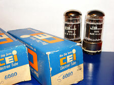 2 x 6080 CEI Tubes *Very Strong & Balanced*Matched*NOS*NIB*