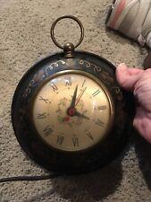 "Vintage Electric Wall Clock Metal 7"" Across"
