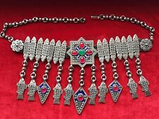 LUXURY ARMENIAN 24K SILVER TRADITIONAL NECKLACE + NATURAL STONES ! ARMENIA WOMEN