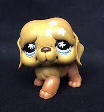 Littlest Pet Shop St. Saint Bernard Puppy Dog Brown Pink Flowers Blue Eyes #481