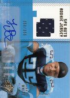 2006 SPx Rookie Autograph Jerseys Auto Gold #188 LenDale White Jersey #/350