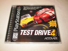 Test Drive 4 (PlayStation PS1) Black Label Game Complete Nr Mint!
