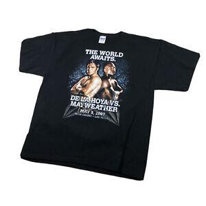 Mayweather vs De La Hoya  May 5, 2007 White T-Shirt  Large MGM Grand Las Vegas