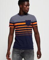 Superdry Orange Label Malibu Stripe Pocket T-Shirt
