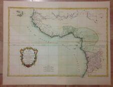 WEST COAST OF AFRICA 1771 BONNE LATTRE VERY LARGE ANTIQUE MAP 18TH CENTURY