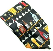 """Ralph Marlin Men's Tie Bartender Lineup Polyester 4"""" Width 60"""" Long"""