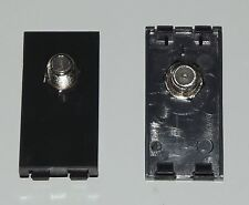 BLACK Satellite TV Female Coupler Euro Module For FacePlates / Wall Sockets SKY