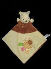 Doudou Winnie the Pooh Disney Baby Nicotoy marron beige nuage soleil étiquettes