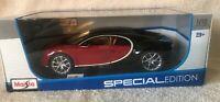 Bugatti Chiron 1:18 Model Car Maisto Special Edition , New Red & Black NIB!