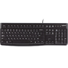 Teclado PC ordenador logitech k120 usb negro