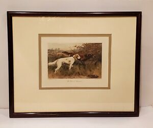 """GEORGE WRIGHT """" The First of September""""  Etching Signed & Framed"""