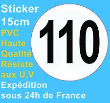 Autocollant sticker limitation vitesse camion poids lourds autocar bus car 110