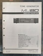 Yamaha Tone Generator MU80 Service Manual