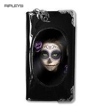 """Anne Stokes 3D Monedero Billetera Negro PVC Gótico Fantasy muerte """"día de los muertos'"""