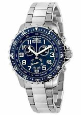 NEW Invicta 6621 II mens Chronograph Stainless Steel Blue Dial Watch date 100m
