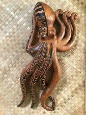 New Tattooed Maori Octopus Plaque Tiki Smokin' Tikis Hawaii lg 3