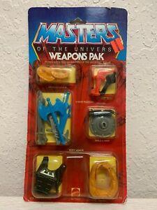Masters of The Universe MOTU Weapons Pak Pack Vintage 1983 Laser Gun Shield Whip
