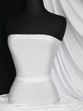 Silk touch 4 way stretch jersey lycra fabric white Q53 WHT