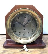 Star Brass Mfg Co. Chelsea Boston Mass Naval Military Ships Maritime Clock