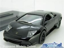 LAMBORGHINI MURCIELAGO MODEL CAR LP640 1:36 SIZE BLACK + DISPLAY CASE KINSMART K