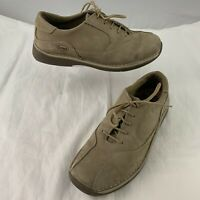 Scholl Backguard Beige Nubuck Shoes UK 7.5 EU 41 Brown Lace Up Trainers