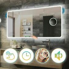 Miroir Salle de Bain Avec Éclairage LED Interrupteur | Horloge | Bluetooth |L59