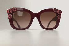 a09d85e65e3e Kate Spade DRYSTLE S LHFM2 Ladies Burgundy Flower Frame Designer Sunglasses  NEW