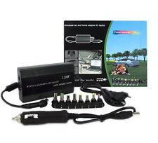 ALIMENTATORE UNIVERSALE 120W NOTEBOOK PC CASA PER AUTO USB UNIVERSALE 12v 220v