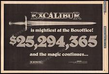 EXCALIBUR__Original 1981 Trade AD / box office promo / poster_HELEN MIRREN_sword